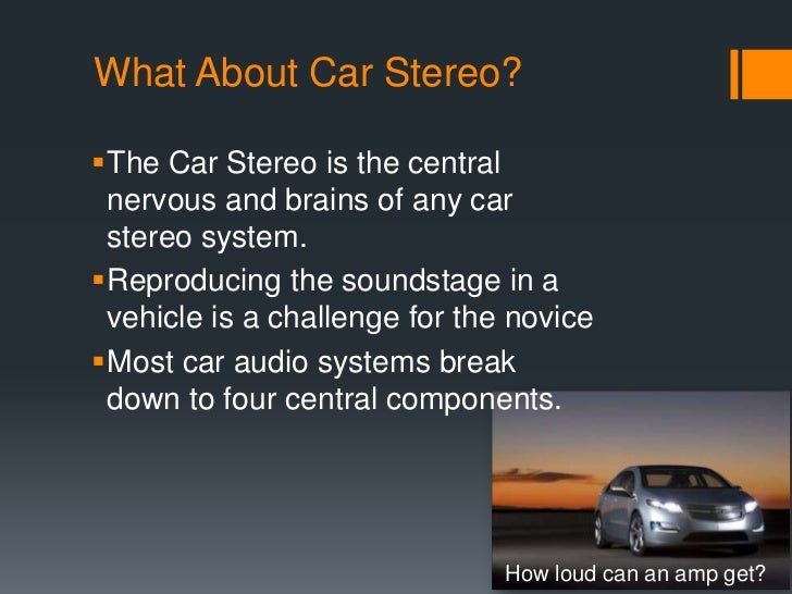 Is A Car Radio S Sound Measured In Decibels