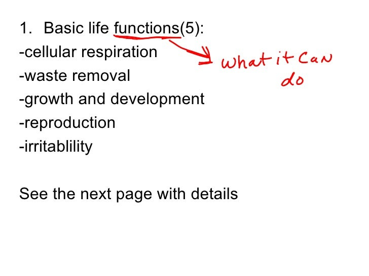 Basic Characteristics Of Living Things Pd2