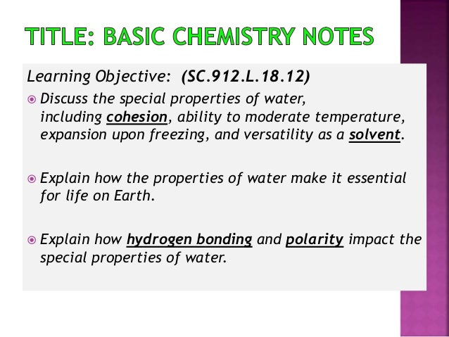 how to learn basic chemistry