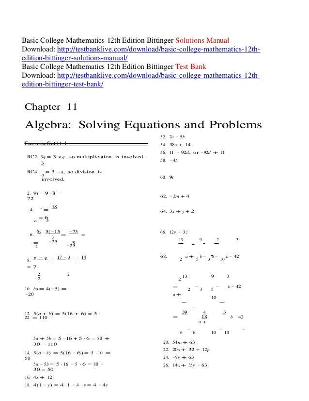 Introductory algebra, books a la carte edition (10th edition.