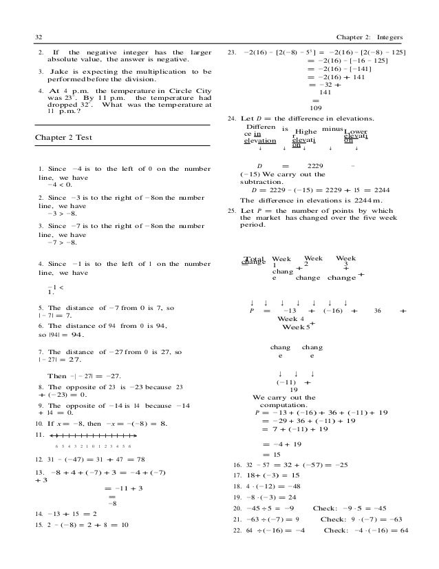 Basic college mathematics with early integers 3rd edition bittinger t 15 fandeluxe Images