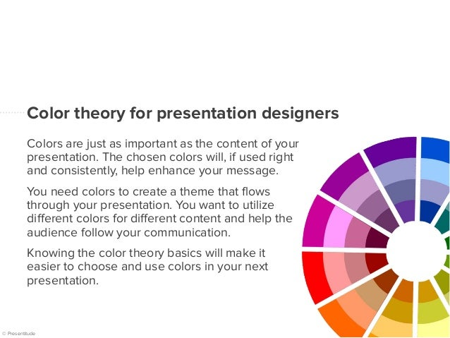 Basics Of Color Theory the basics of the color wheel for presentation design