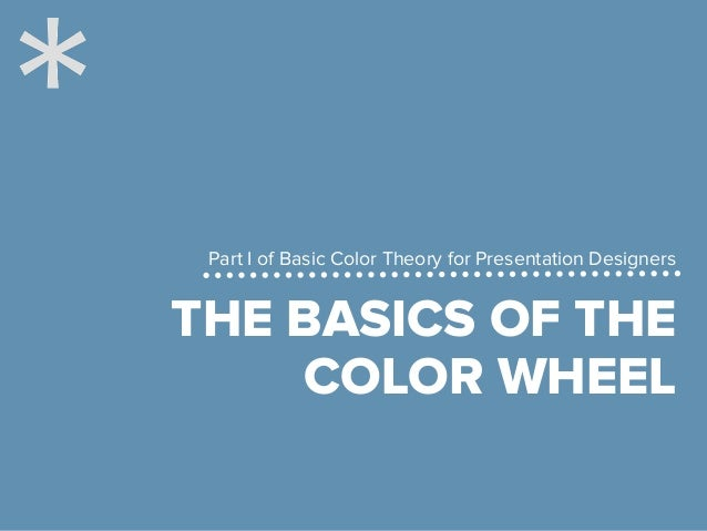 The basics of the color wheel for presentation design Slide 3