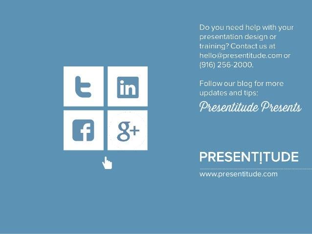 PRESENTITUDE www.presentitude.com http://plus.google.com/+ Presentitude/posts http://www.facebook.co m/presentitude https:...