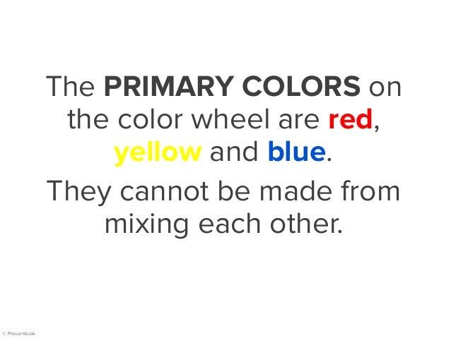 The Basics Of Color Wheel For Presentation Design