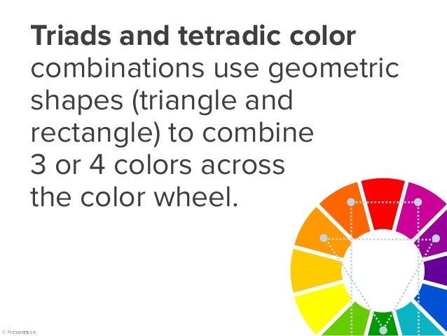 Triad & tetradic color combinations Triads Tetradic