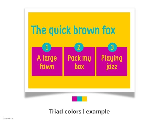 Tetradic colors   example