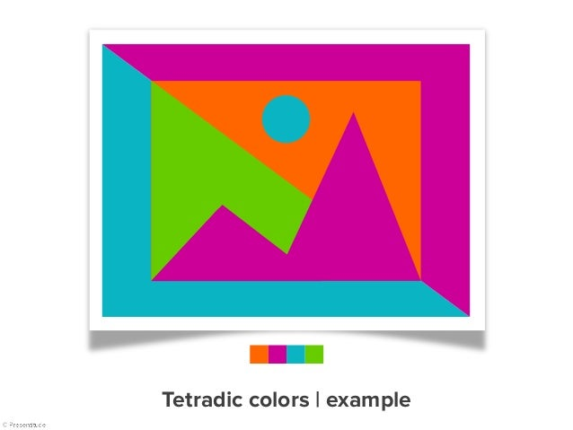 The quick brown fox Pack my box A large fawn Playing jazz 1 2 3 Tetradic colors   example