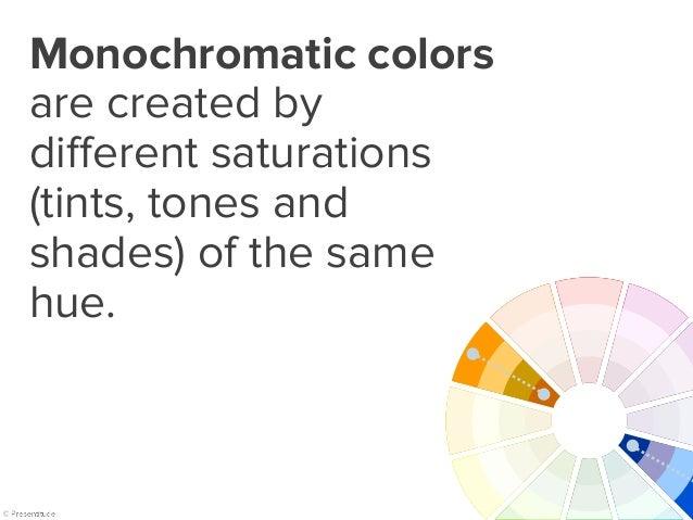 Monochromatic color combinations