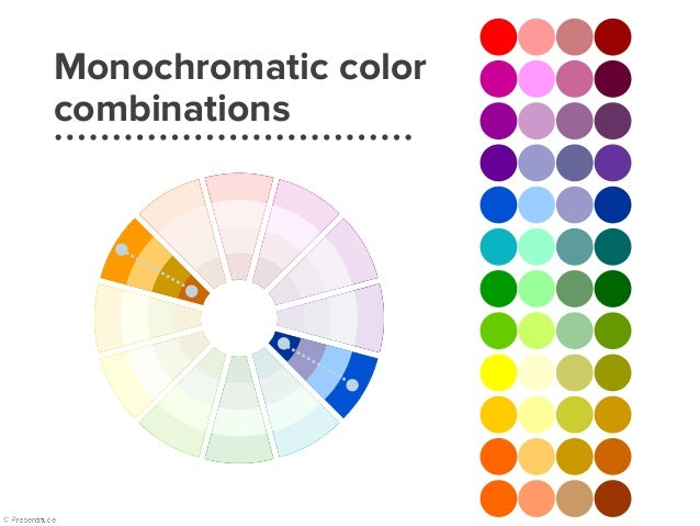 Monochromatic colors | example