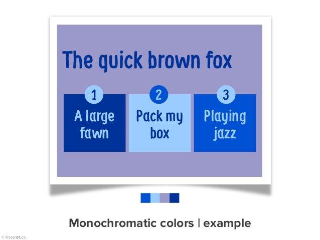 Monochromatic colors   example