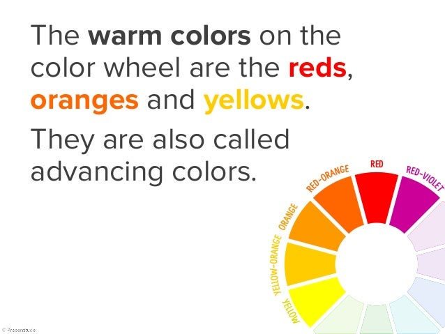 Warm colors   example