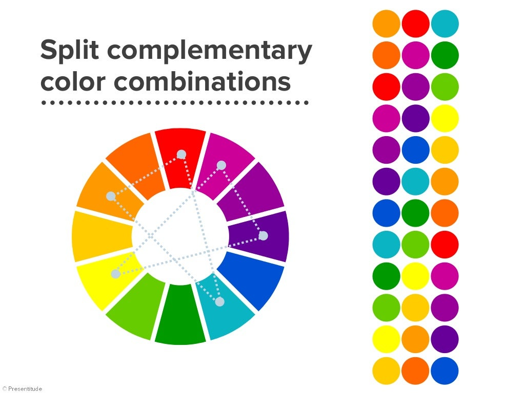 Split complementary colors example - Split complementary colors definition ...