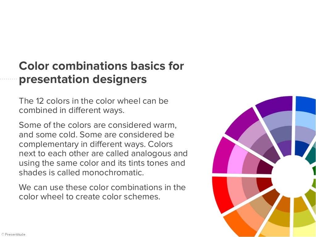 Presentitude Creating Color Combinations