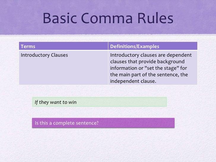 Ten Basic Comma Rules - YouTube