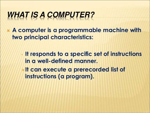 Basic computer fundamentals Slide 3