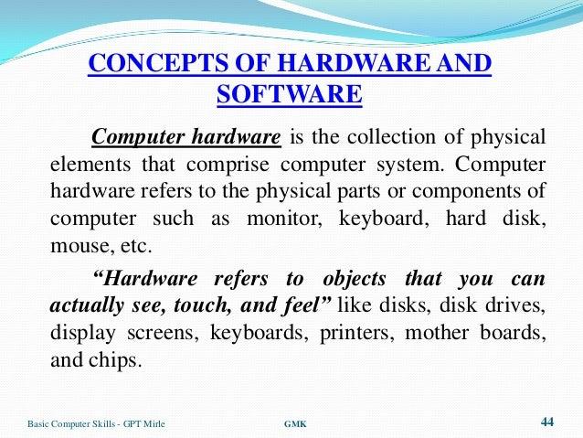 Palmtop ComputerBasic Computer Skills   GPT Mirle GMK 43; 44.  Computer Software Skills