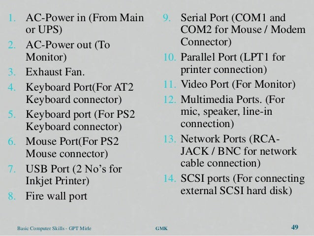 1. AC-Power in (From Main                 9. Serial Port (COM1 and        or UPS)                                 COM2 for...