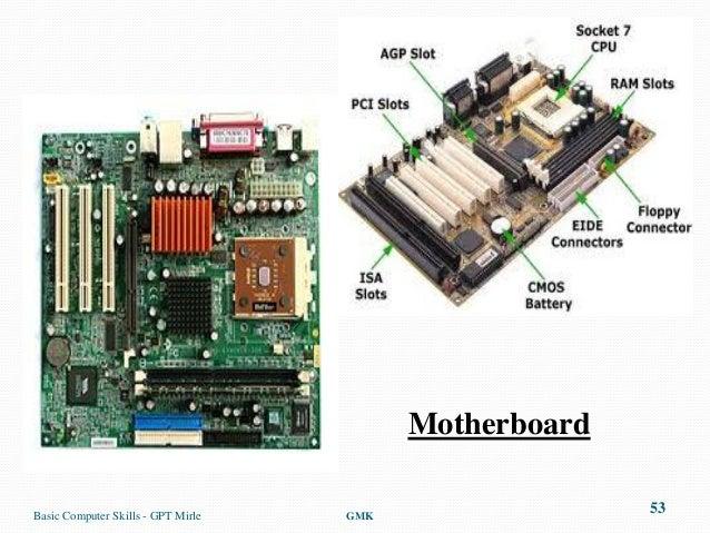 MotherboardBasic Computer Skills - GPT Mirle   GMK                                                        53