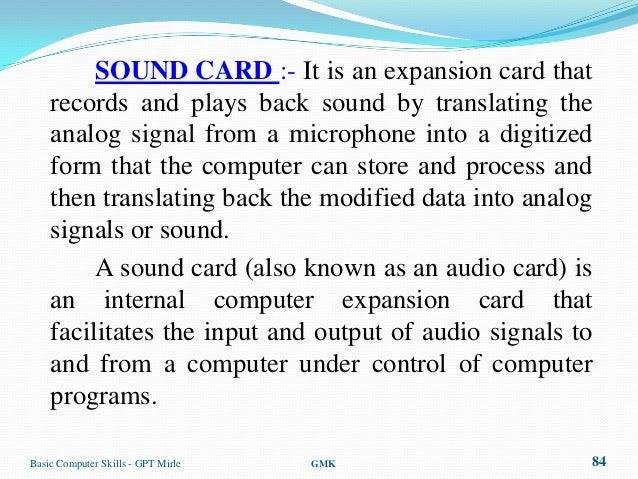 sound - Sound Computer Skills