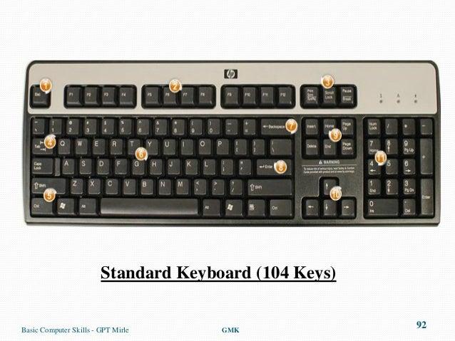 Standard Keyboard (104 Keys)Basic Computer Skills - GPT Mirle     GMK                                                     ...