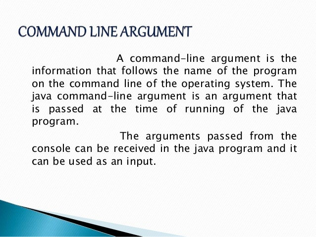 How To Run Java Program Using Command Line Argument How To