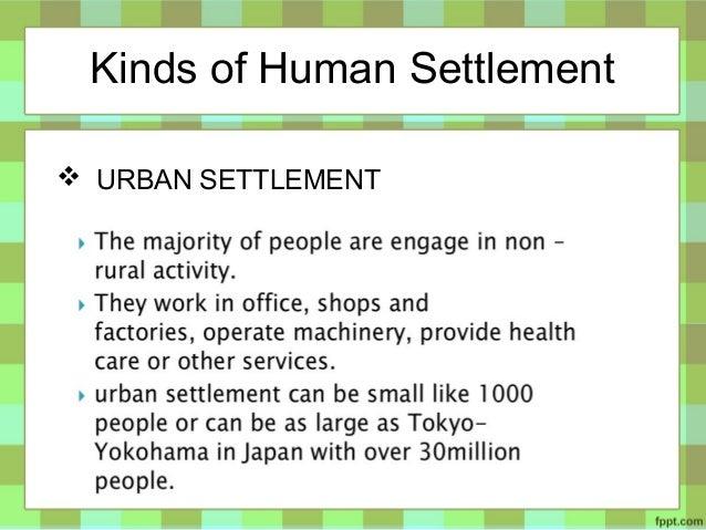Basic Concept of Human Settlement by Martin Adlaon Arnaiz Jr