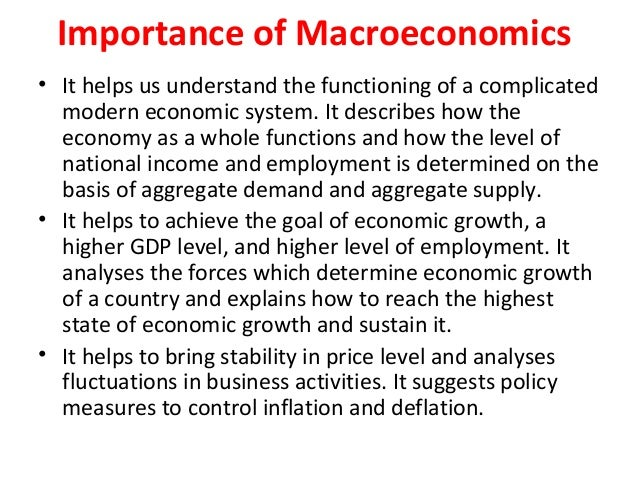 Basic concept of macro economics