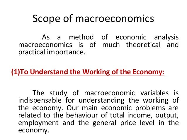the scope of macroeconomics
