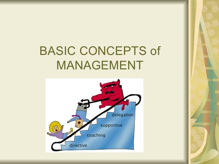 Basic concept of management