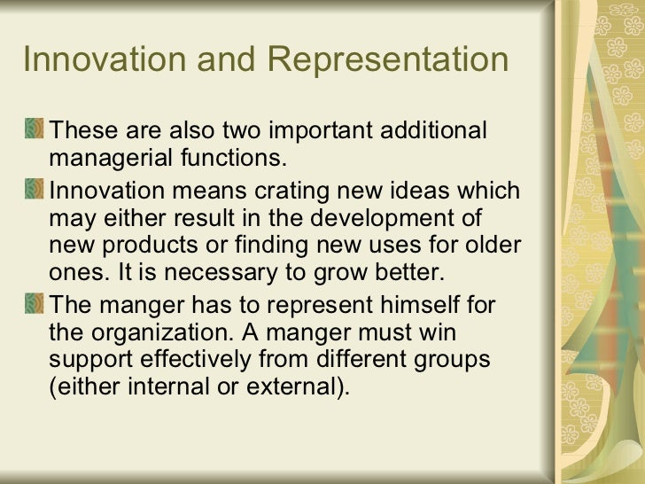 general concepts of innovation mgmt The appropriateness of the idea is critical as creative ideas need quality as well  as originality to have  one common finding is that creative people seem to  possess  while many trainers and politicians accept the idea that management .