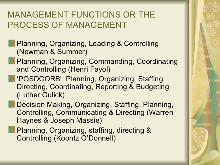 planning organizing leading and control This paper will discuss four management functions: planning, organizing, leading, and controlling all of these functions are what every good manager does whether he/she knows it.