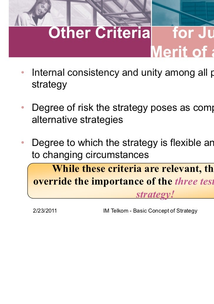 the fit concept in strategic management What is strategic planning strategic planning is an organizational management activity that is used to set priorities, focus energy and resources, strengthen operations, ensure that employees and other stakeholders are working toward common goals, establish agreement around intended outcomes/results, and assess and adjust the.