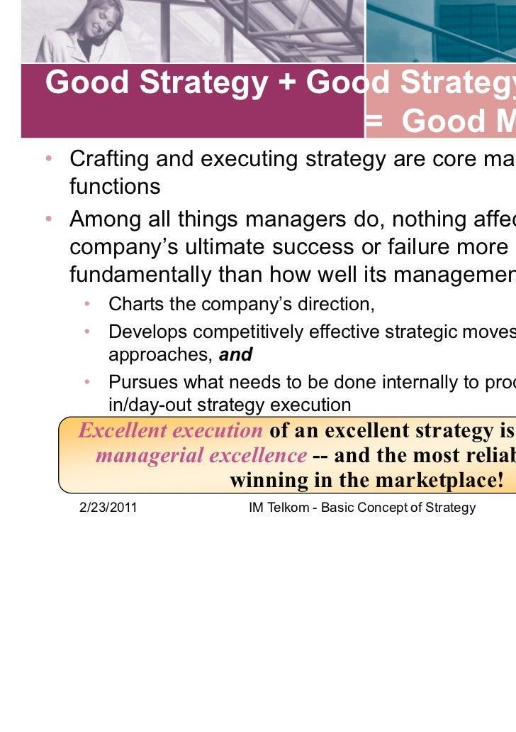 basic concept of strategic management Basic concepts of strategic management - ebook download as powerpoint presentation (ppt), pdf file (pdf), text file (txt) or view presentation slides online basic concepts of strategic.