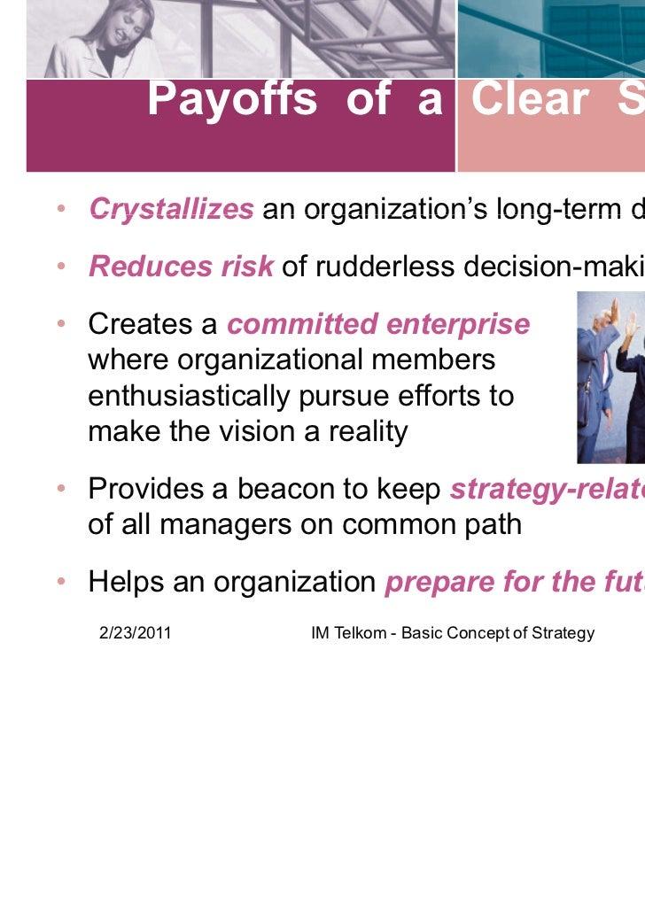 basic concept  strategy strategic management
