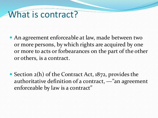 Basic Concept On Law Of Contract