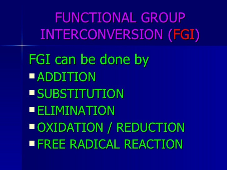 Functional Group Interconversion