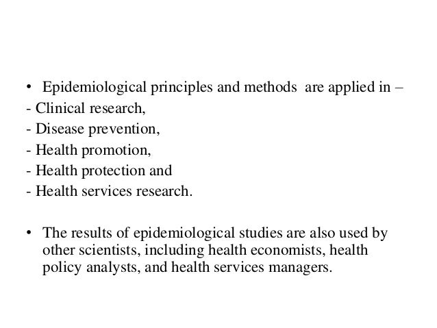 application of epidemiology concepts The objectives of this commentary are to provide an overview of key concepts surrounding  nieuwenhuijsen mj environmental epidemiology: study methods and application.