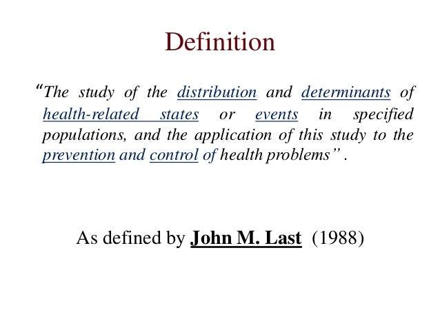 Epidemiology - Wikipedia
