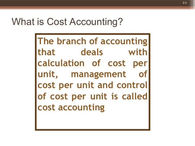 Basic cost accounting concepts