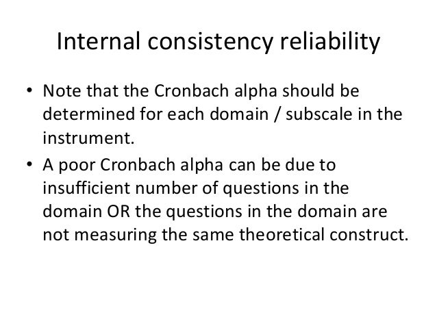 cronbachs alpha reliability analysis psychology essay Despite the fact that cronbach's alpha underestimates the reliability and may even give absurd, negative estimates [6–9], it is the most widely applied esti- mator of reliability alternative estimators based on factor analysis have been suggested [10,11], but they have not succeeded to replace cronbach's alpha.