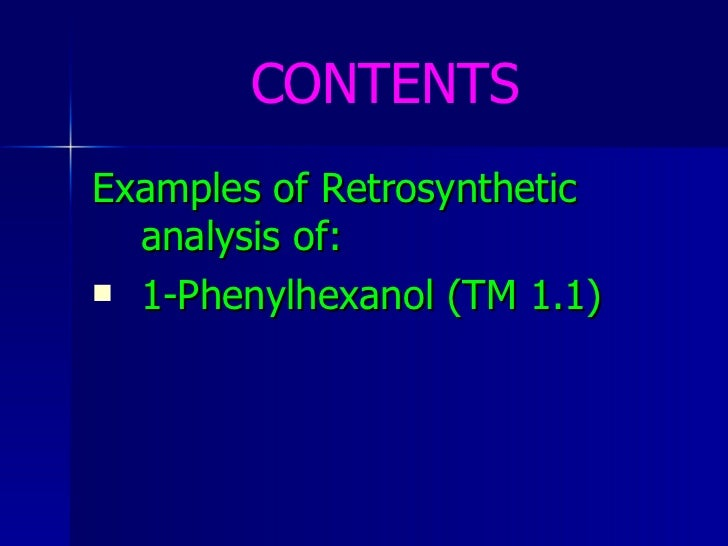 basics of retrosynthesis Posted by cynthia liu on 2/17/16 9:00 am tweet chemistry uses a lot of esoteric notations, so here is a short the basics of retrosynthesis.