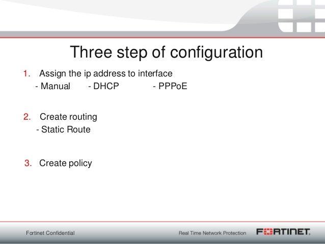 Basic configuration fortigate v4 0 mr2