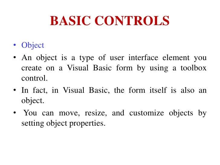 Basic controls of Visual Basic 6 0