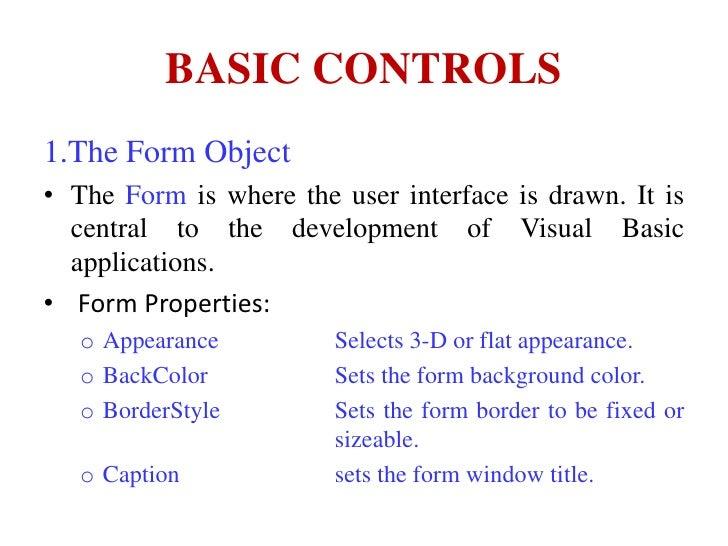 Basic controls of Visual Basic 6.0 Slide 3