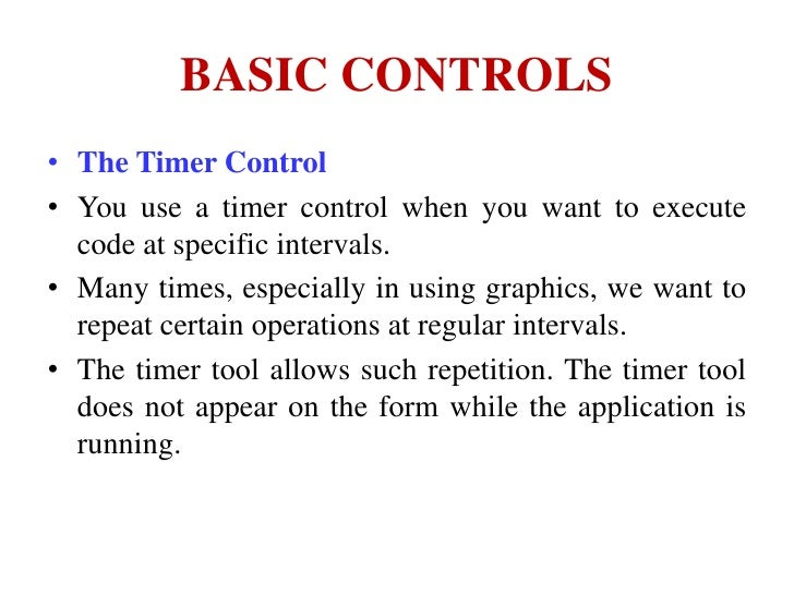 Basic controls of Visual Basic 6 0