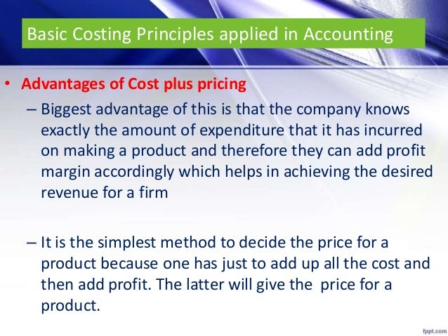 principles based accounting advantages Move toward a principles-based set of accounting standards, where mere compli ance with technical prescriptions is neither sufficient nor the objective capital hill staffers, press commentators, and academics seconded pin in.