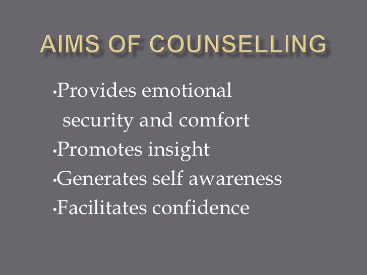 what does self awareness mean in counselling
