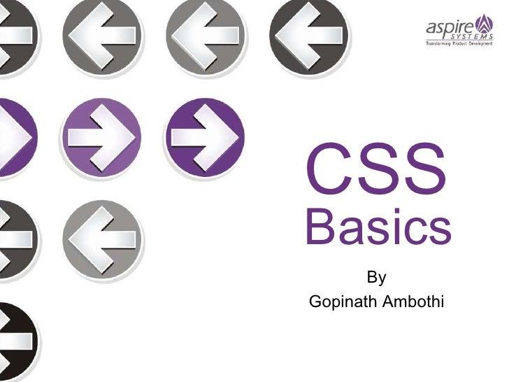 Basics By Gopinath Ambothi CSS