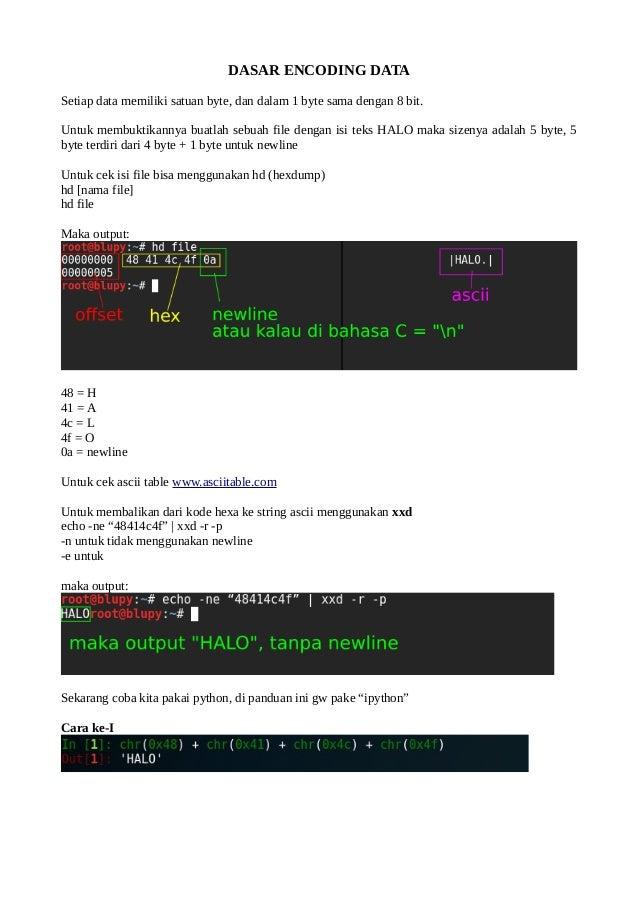 BASIC CTF] Dasar Encoding Data